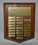 Mens Golf Championship - Low Gross, Original Plaque